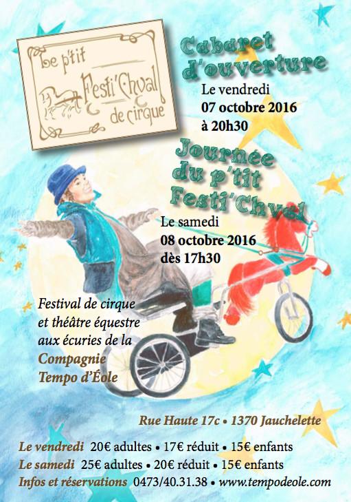 Festival de cirque équestre aux écuries de la Compagnie Tempo d'Eole !