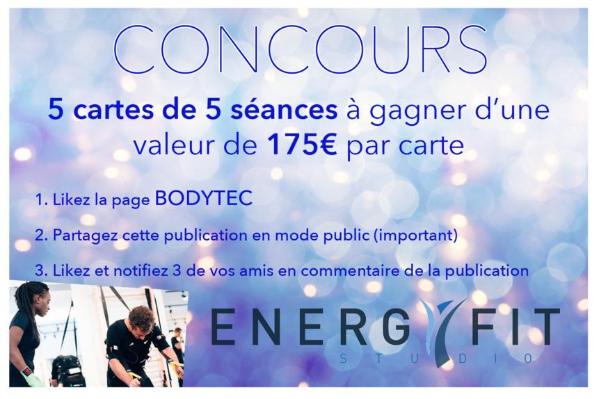 ! ! CONCOURS ENERGYFIT STUDIO by BODYTEC ! !