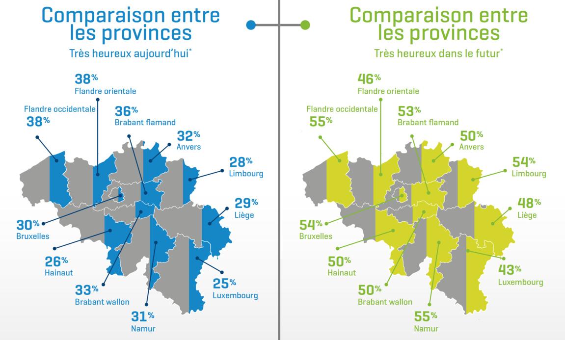 Les habitants du Brabant wallon voient l'avenir avec optimisme