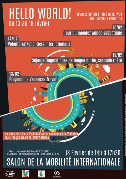 "Waterloo : Hello World ! ""semaine de la mobilité internationale 2017"""