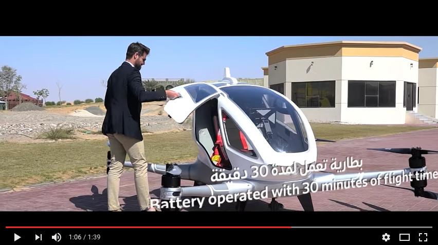 A Dubaï on teste déjà les Taxis-Drones !