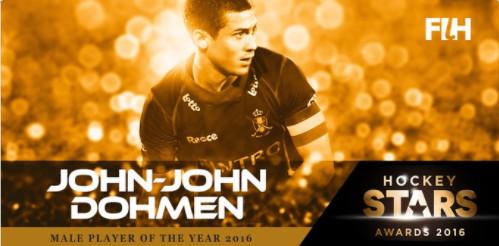 John-John Dohmen est élu meilleur joueur du monde par la Fédération Internationale de Hockey !