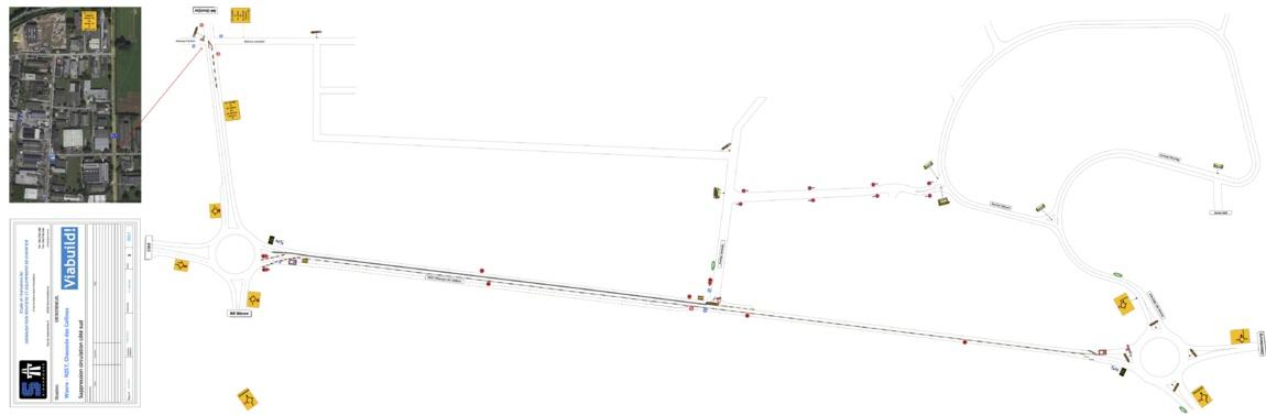 Travaux zoning nord de Wavre : Gros travaux de voirie à Wavre !