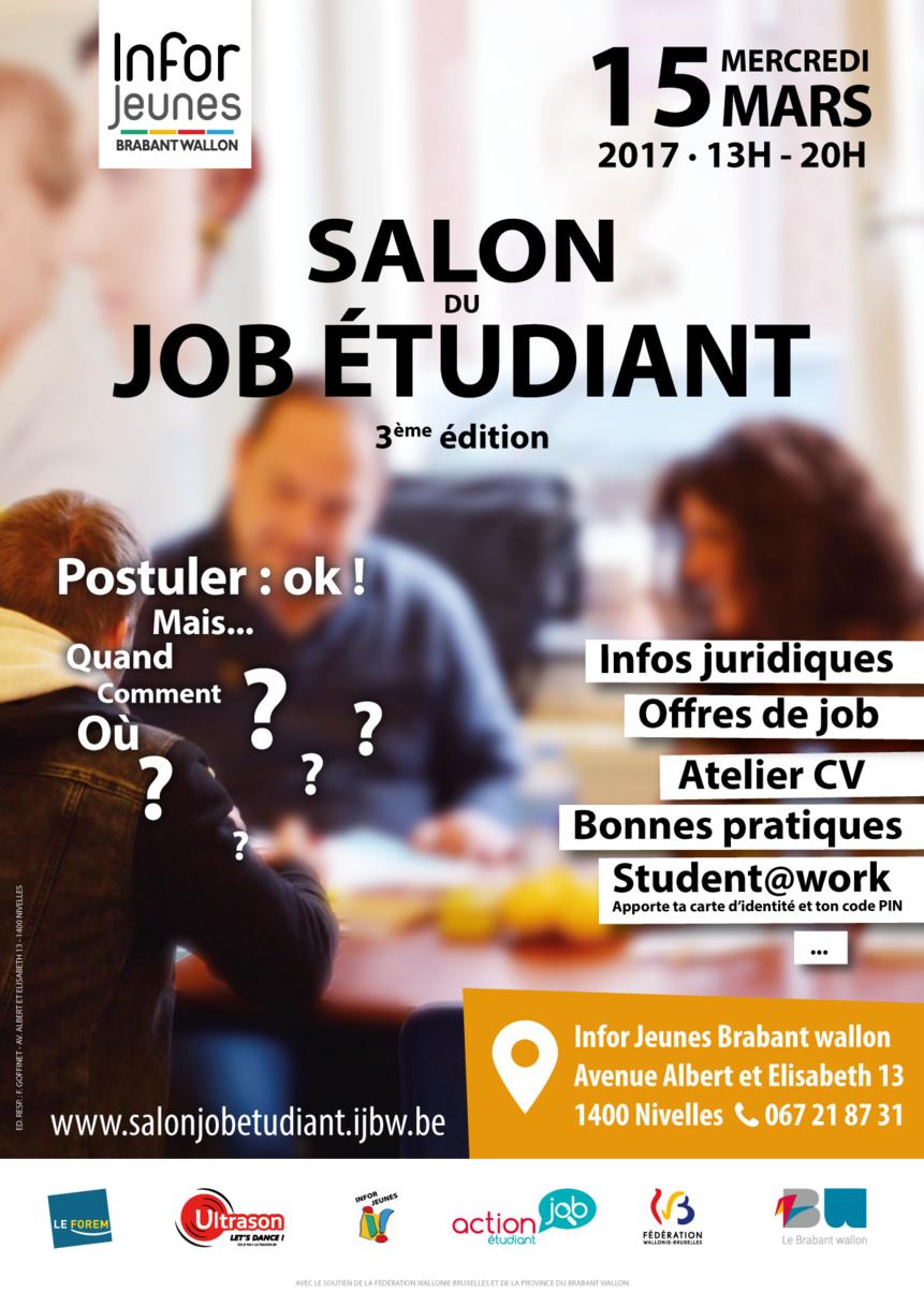 Nivelles : Salon du job étudiant 3ème édition !