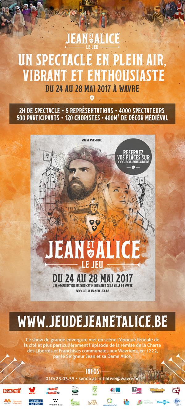 Wavre : Jeu de Jean & Alice : la billetterie est ouverte !