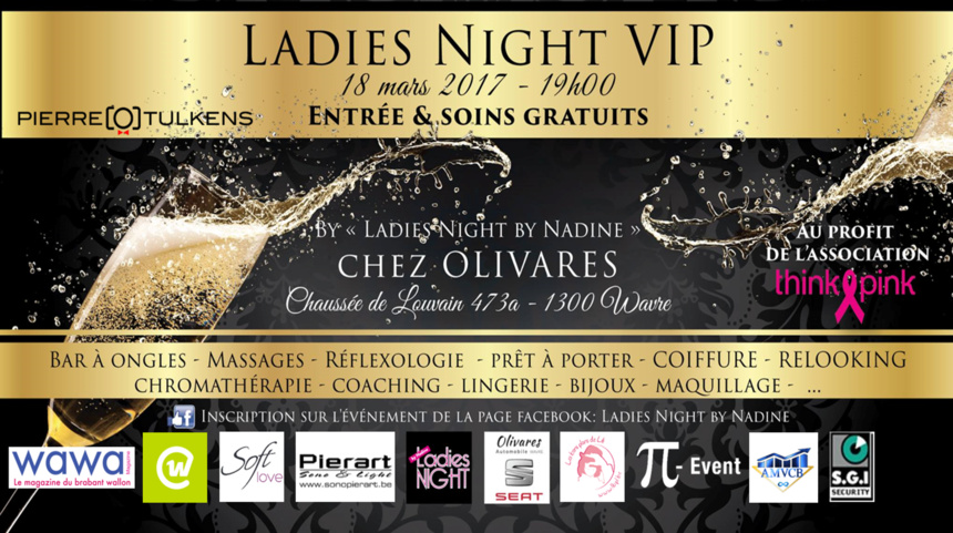 VIP Ladies Night au profit de l'asbl Think Pink