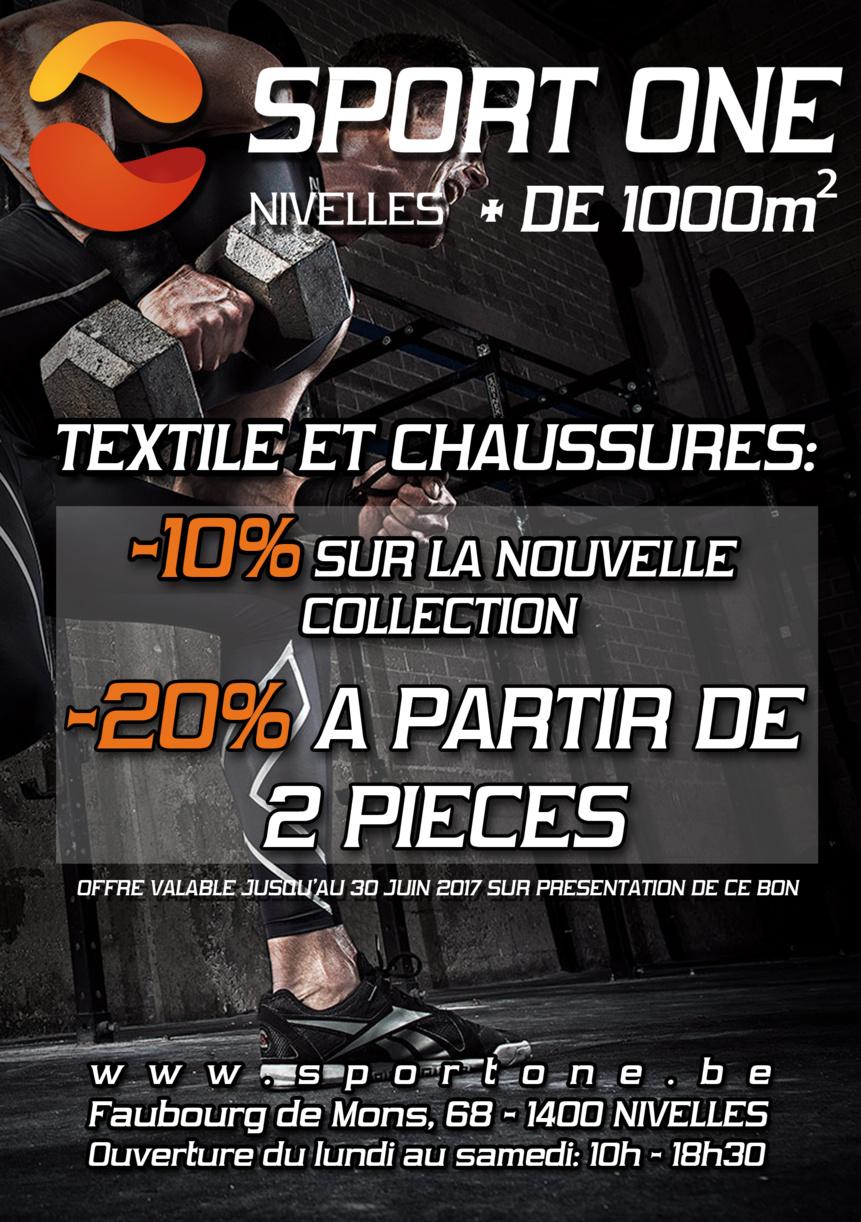 Sport One à Nivelles : 1000 m2 consacrés au sport !