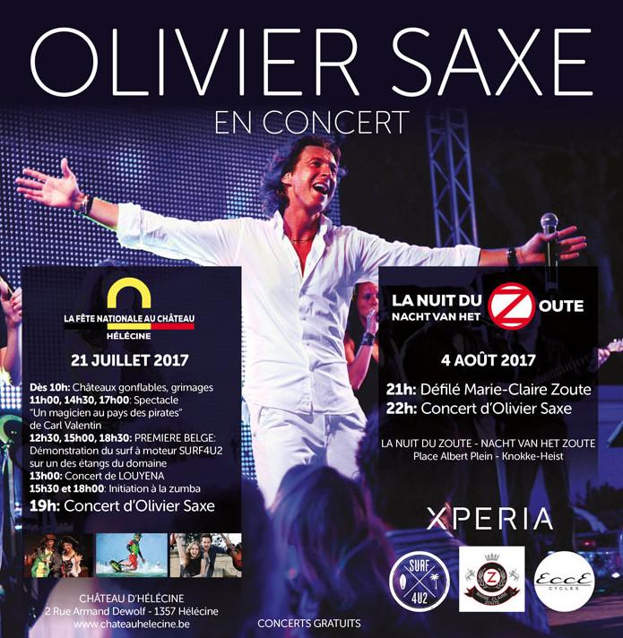 21 juillet à Hélécine : Olivier Saxe en concert !