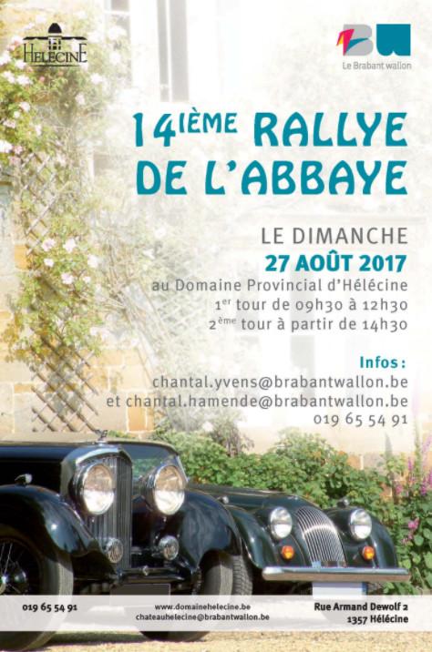 14e rallye de l'Abbaye réservé aux voitures de plus de 25 ans.