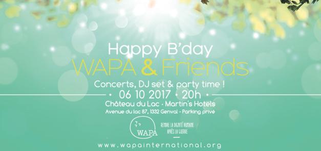 Happy B'day WAPA & Friends: le concert de charité de WAPA,  pour scolariser 150 enfants victimes indirectes et oubliées de la guerre