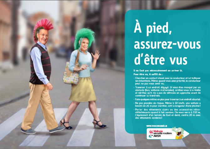4 accidents de piétons par jour : enquête et lancement d'une campagne de l'AWSR !