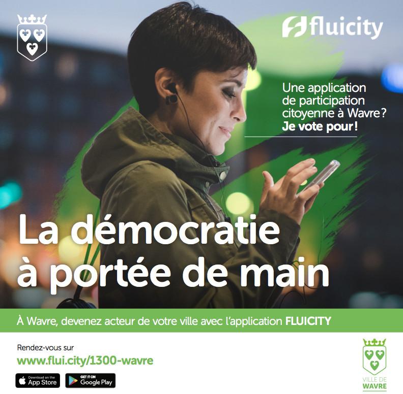 Wavre renforce la participation citoyenne  avec Fluicity !