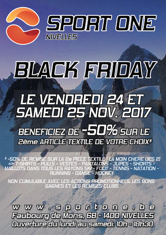 Sport One Nivelles : 🔥 Black Friday 2017 🔥