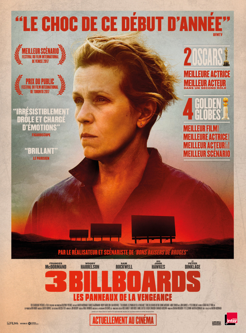 Cinéma Imagibraine : Three Billboards, les Panneaux de la vengeance