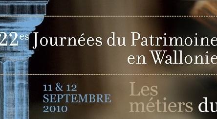 22ème Journées du Patrimoine en Wallonie