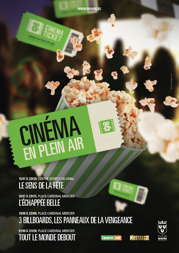 Wavre : Cinéma en plein air