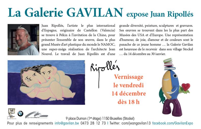 La Galerie GAVILAN expose Juan Ripollés