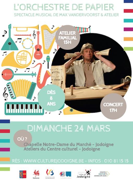 Jodoigne : L'orchestre de papier - Spectacle musical et atelier (à partir de 8 ans) + vidéo