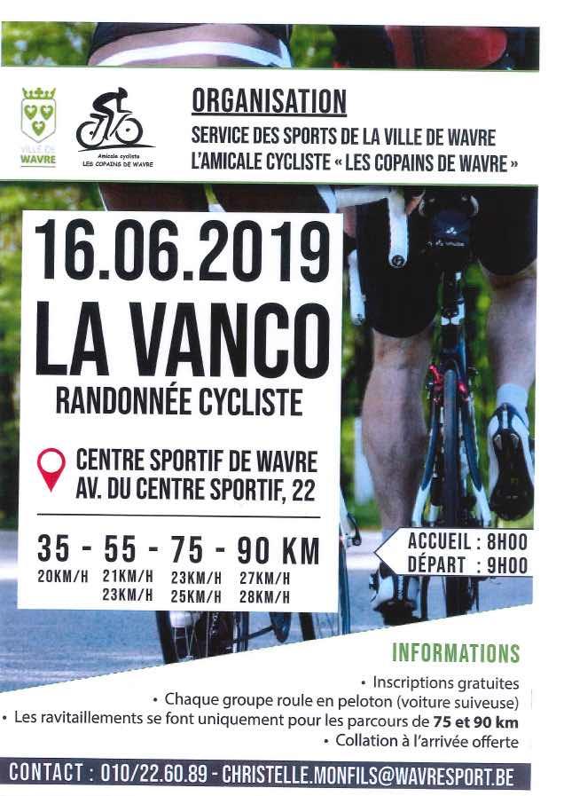 Wavre : La Vanco – Randonnée cycliste