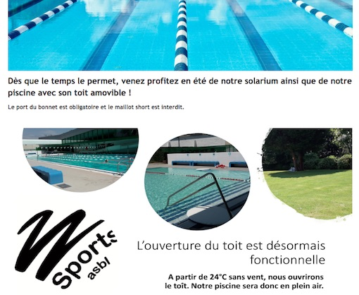 Horaires d'été élargis à la piscine de Waterloo