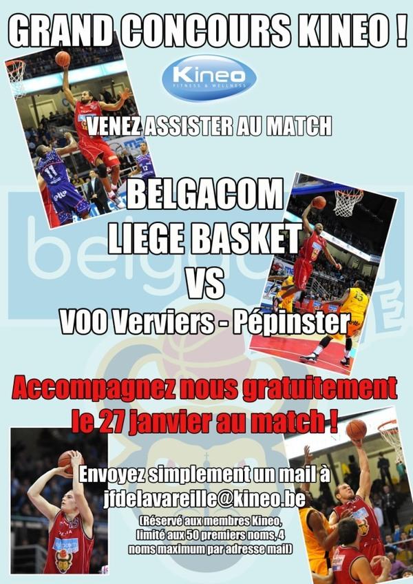 Concours Liège Basket !