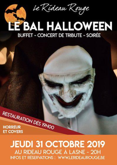 Lasne : Rideau Rouge 4ème bal d'Halloween en ce jeudi 31 octobre.