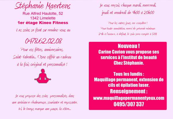 """Esthéticienne - Institut de beauté """"Chez Stéphanie"""" à Limelette"""