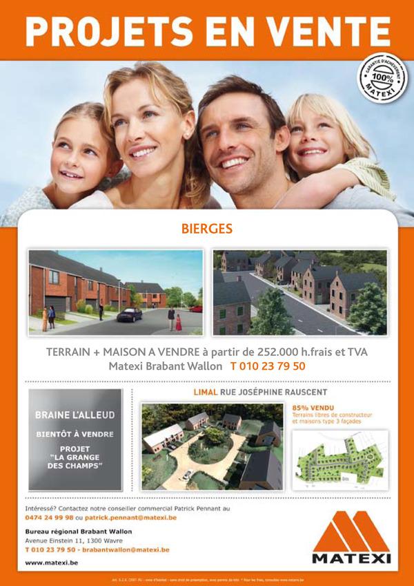 Découvrez le nouveau projet Matexi à Bierges !
