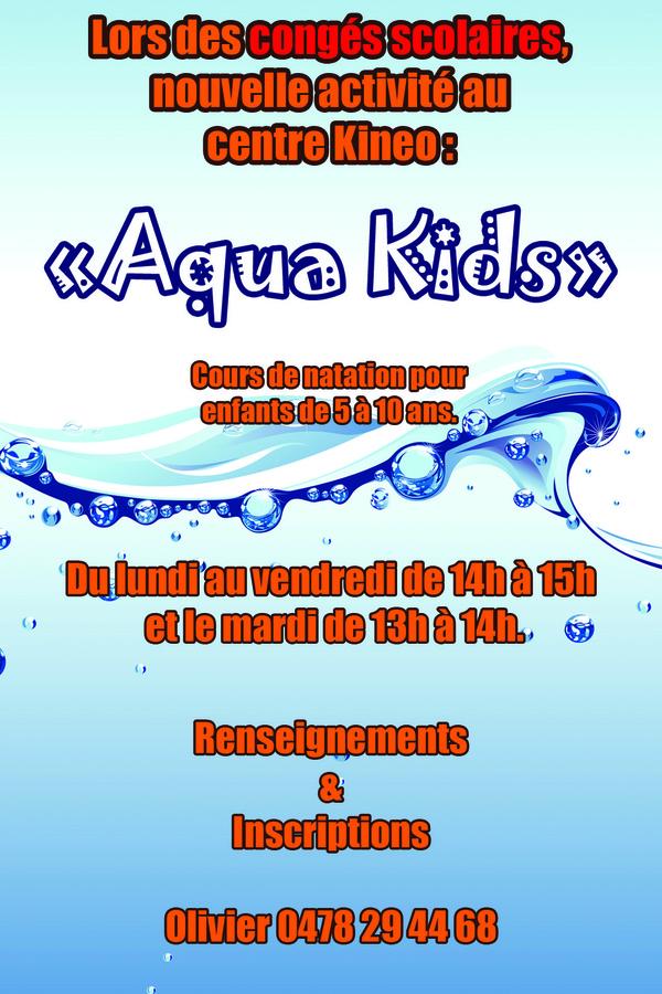 Nouveau Cours d'Aqua Kids !