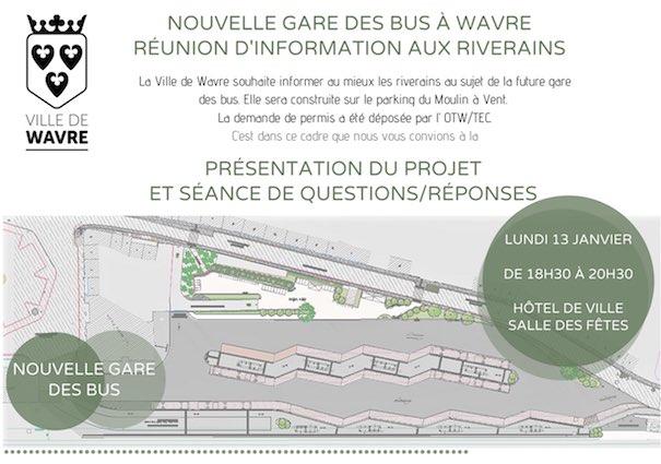 Nouvelle gare des bus de Wavre