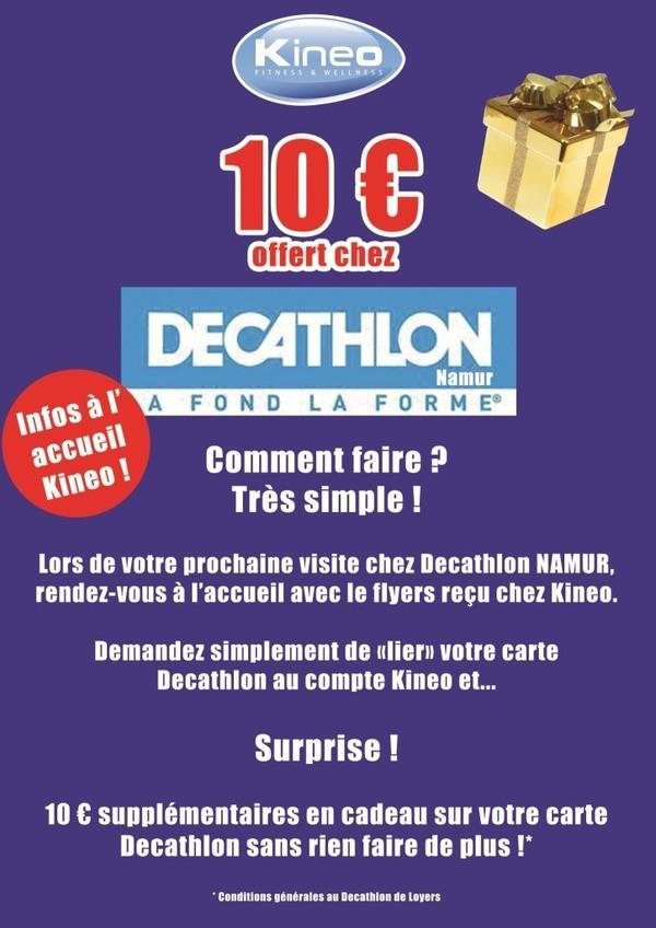 Recevez 10 euros en cadeau au Decathlon Namur !