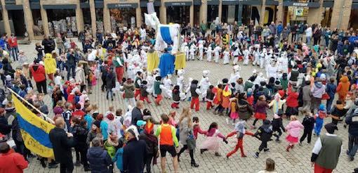 Louvain-La-Neuve : Carnaval du Blan T'chfau