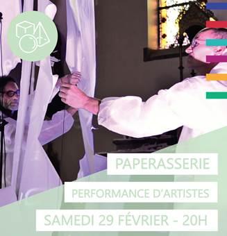 """Jodoigne : Performance/Installation : """"Paperasserie"""""""