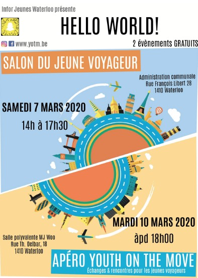 Waterloo recherche des jeunes globe trotters pour HELLO WORLD 2020