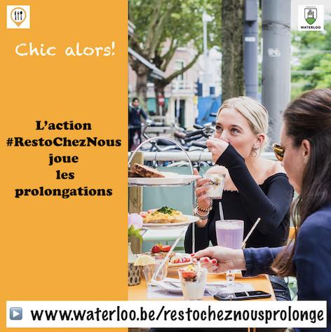 Waterloo : l'action #RestoChezNous est prolongée