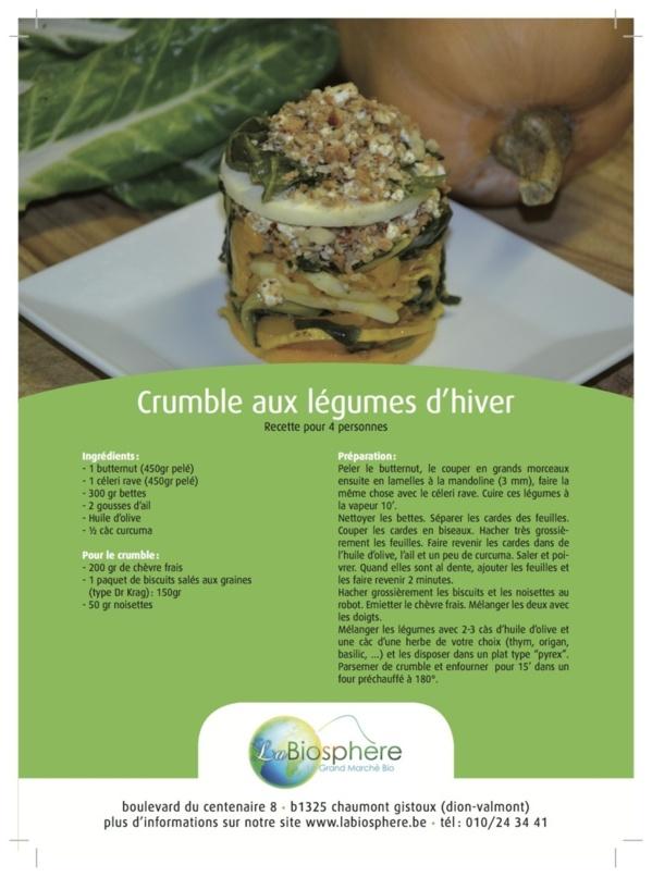 Crumble aux légumes d'hiver (4 personnes)