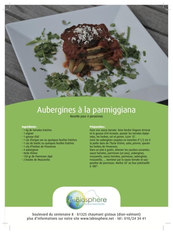 Aubergines à la parmiggiana