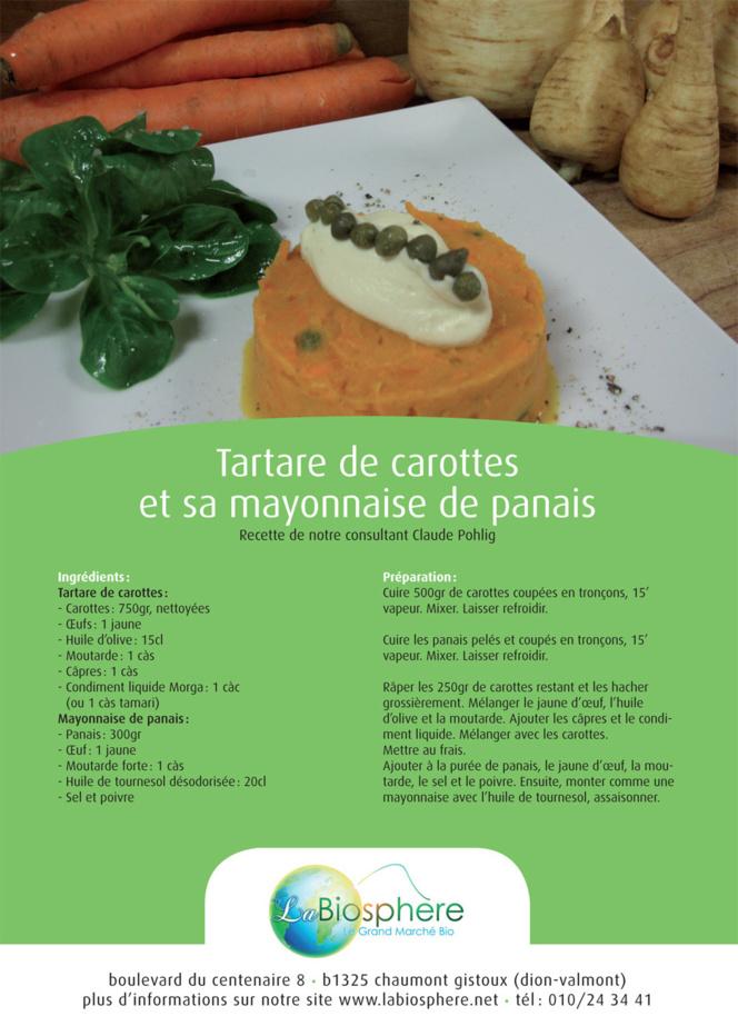Tartare de carottes et sa mayonnaise de panais