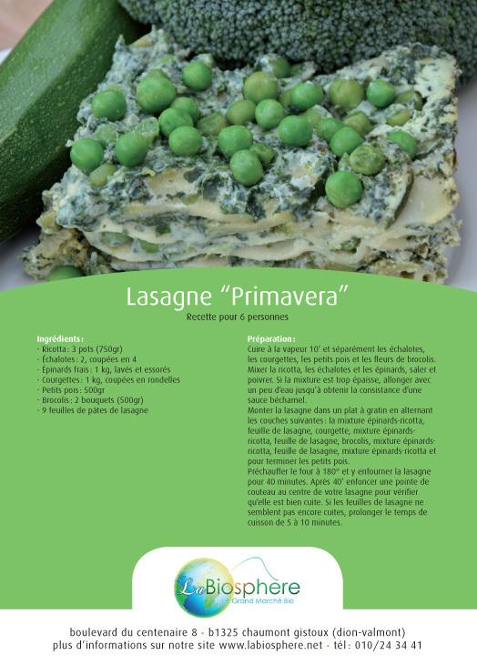 """Lasagne """"Primavera"""""""