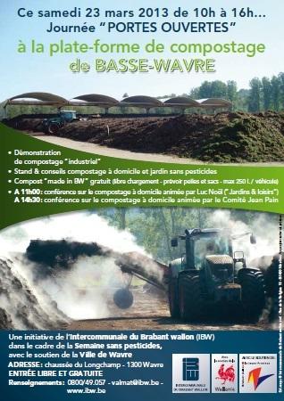 « Portes ouvertes » à la plate-forme de compostage de Basse-Wavre.