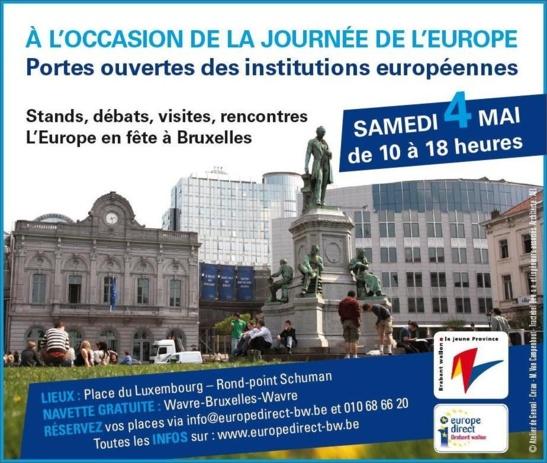 L'Union européenne ouvre ses portes au grand public à l'occasion de la Fête de l'Europe.