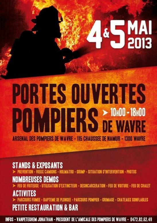 Portes Ouvertes des pompiers de Wavre : 4 & 5 mai 2013