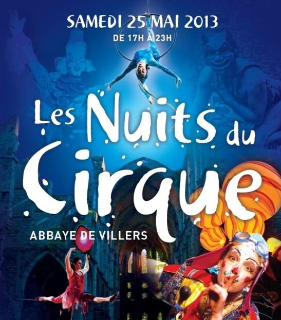 Les Nuits Du Cirque Abbaye de Villers samedi 25 mai de 16 à 23H