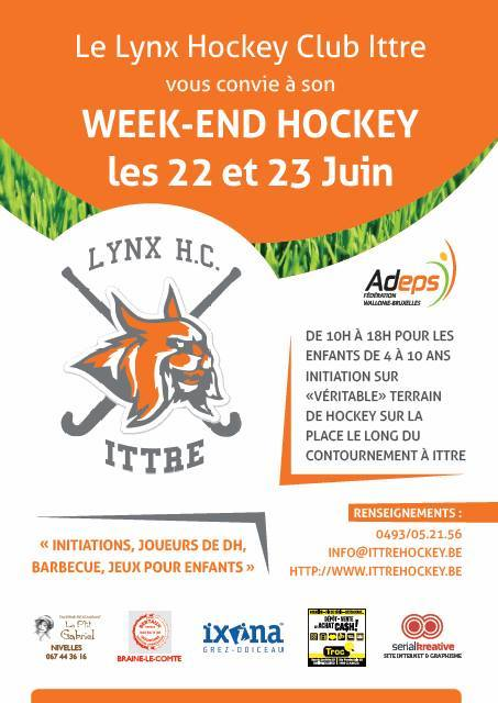 Week-end Hockey à Ittre !