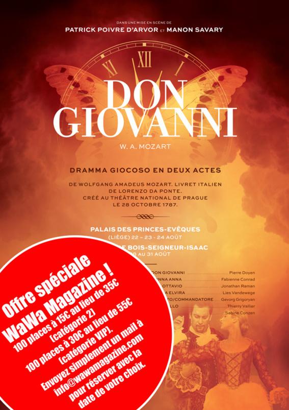 DON GIOVANNI - CHÂTEAU DE BOIS-SEIGNEUR-ISAAC  DU 28 AU 31 AOÛT À 21H (Réductions !)