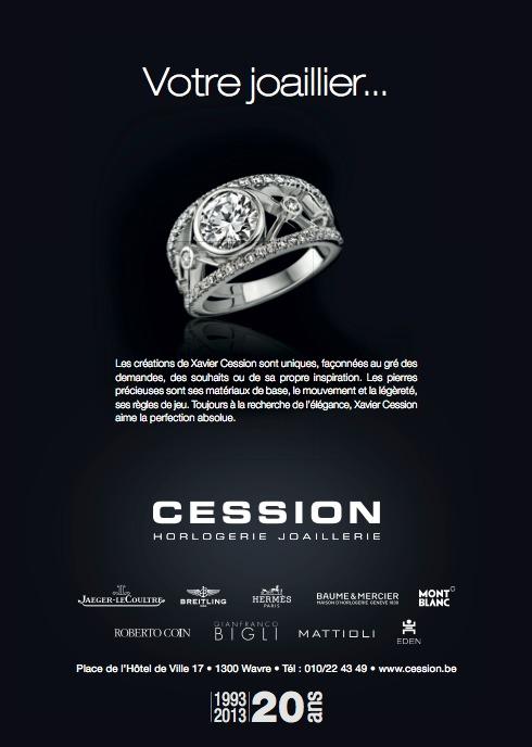 CESSION, LA MAISON DE L'EXCELLENCE. DE L'ART HORLOGER ET JOAILLIER