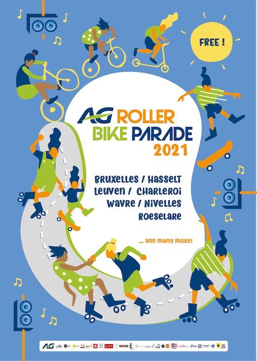 Wavre : AG Roller Bike Parade 2021