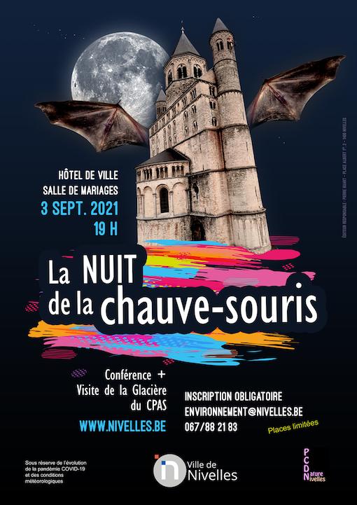 Nivelles : Vendredi 3 septembre prochain, venez à la rencontre des chauves-souris !
