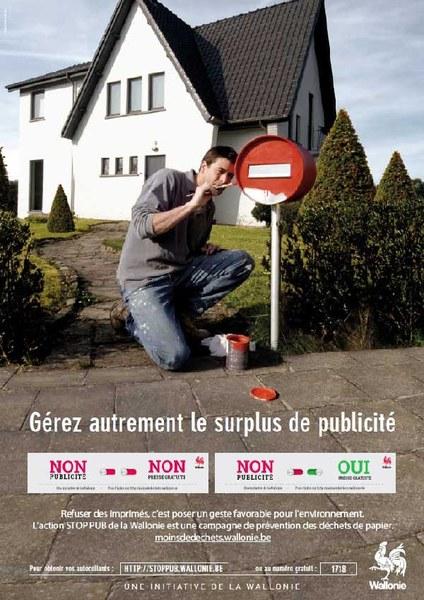 "Brabant wallon : Autocollants ""Stop pub"""