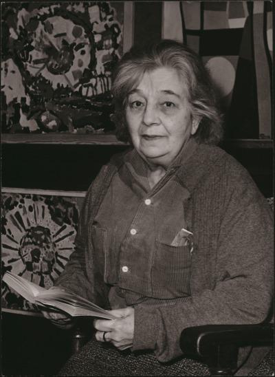 Marthe Donas en février 1964.